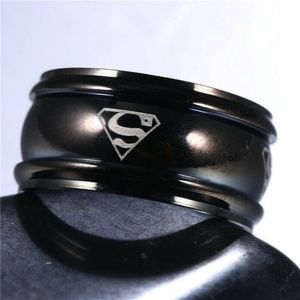 Dc Comics Accessories - Superman Stainless Steel Titanium Band Ring